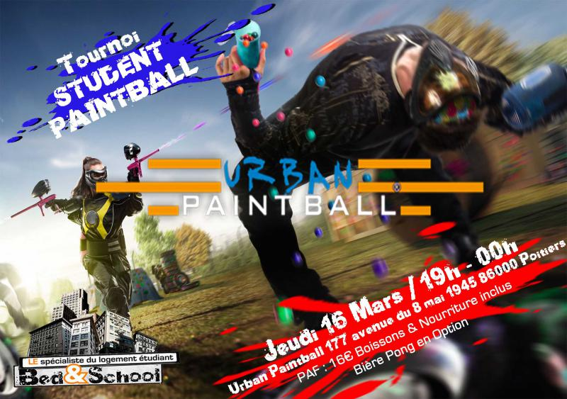 Soirée PAINT BALL indoor by Bed&School