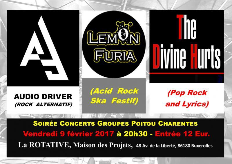 Concert : Soirée Groupes Poitou-Charentes !!! REPORTÉE A UNE DATE ULTÉRIEURE !!!