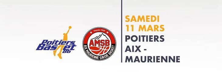 Poitiers - Aix-Maurienne (22e journée Pro B)