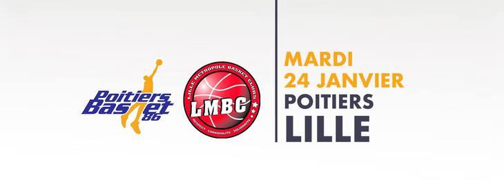 Poitiers - Lille (16e journée Pro B)