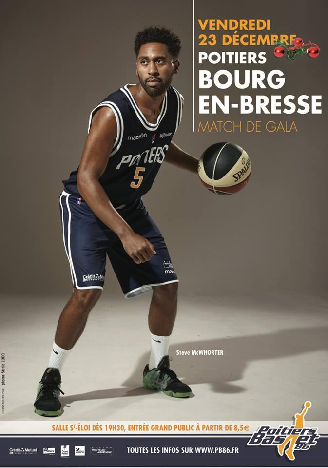 Poitiers - Bourg-en-Bresse (12e journée Pro B)