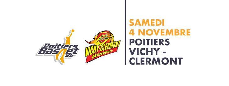 Poitiers - Vichy-Clermont (4e journée Pro B)