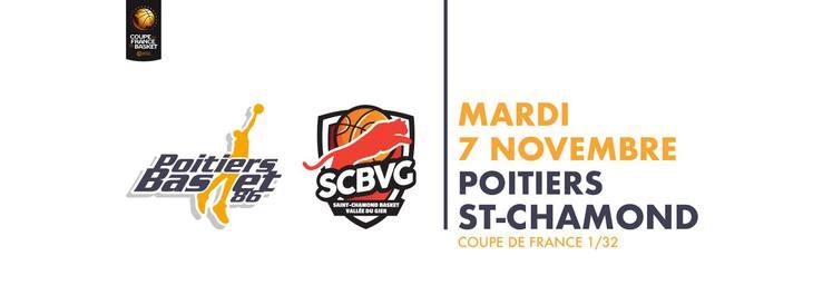 Poitiers - St Chamond (Coupe de France Basket)