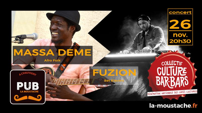 FESTIVAL CULTURE BAR-BARS : Massa Deme (AfroFolk) + Fuzion(Electro)