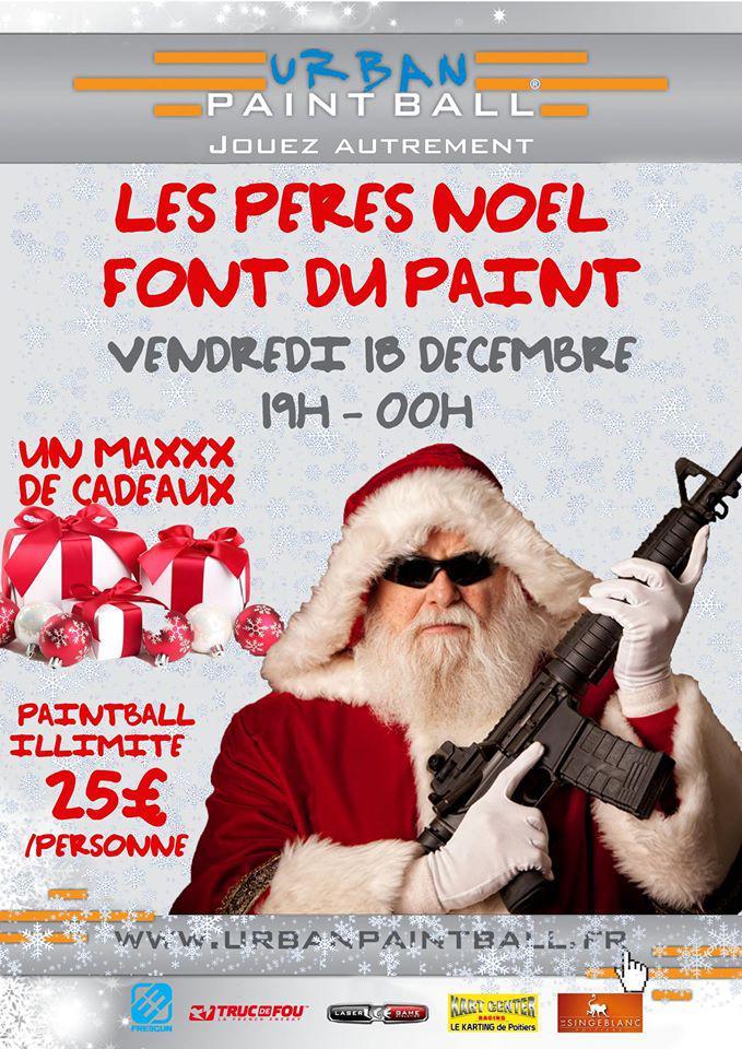 Soirée Noël Urban Paintball