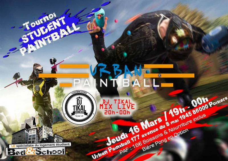 Soirée Tournoi Student Paintball with Bed&School