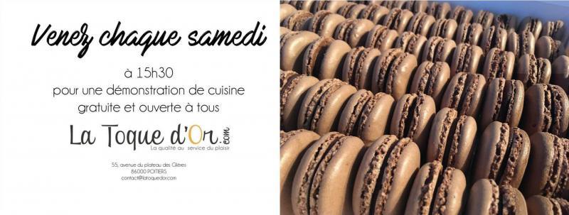 Démonstration gratuite Macarons au chocolat