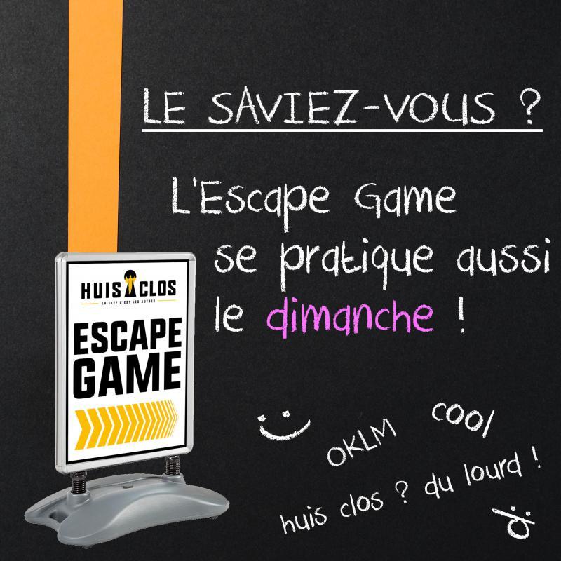 Le dimanche c'est Escape Game !