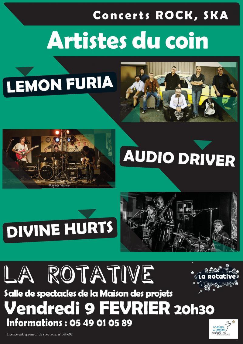 Concerts du 9 février à La Rotative