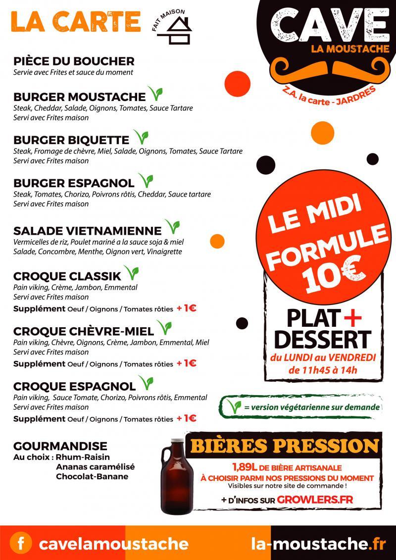 ~ Nouveau menu ! Et toujours notre formule à 10€ le midi ~