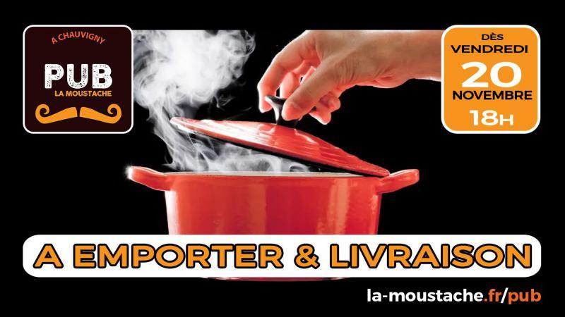 [ Le Pub La Moustache : à boire et à manger chez vous ! ]
