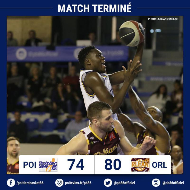 Poitiers proche de l'exploit face à Orléans Loiret Basket