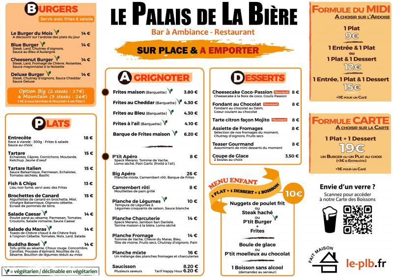 Nouveau menu au PLB (et arrivée du menu enfant !)