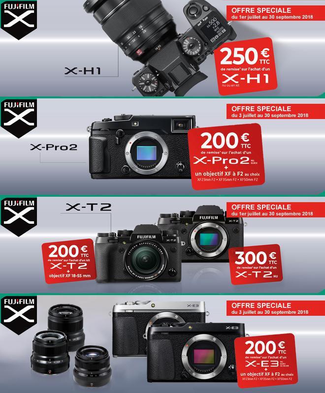 Remises immédiates sur les produits Fuji.