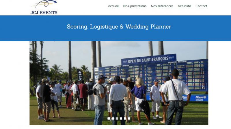 Réalisation du site de JCJ Events