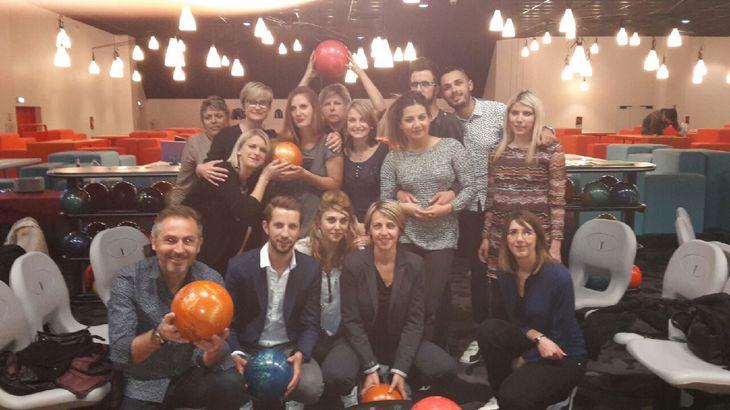 Une petite sortie bowling pour toute l'équipe de Différence  !!