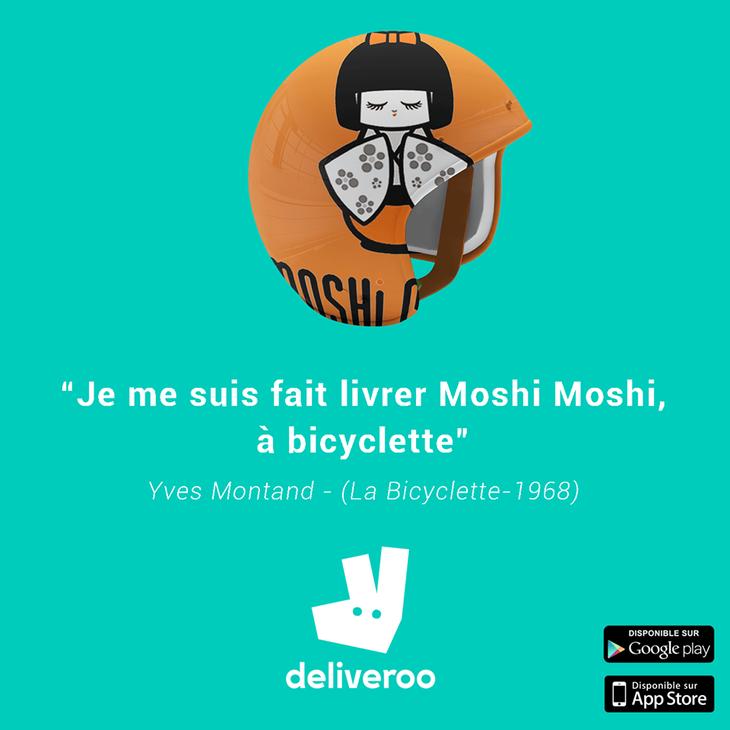 Je me suis fait livrer Moshi Moshi, à bicyclette
